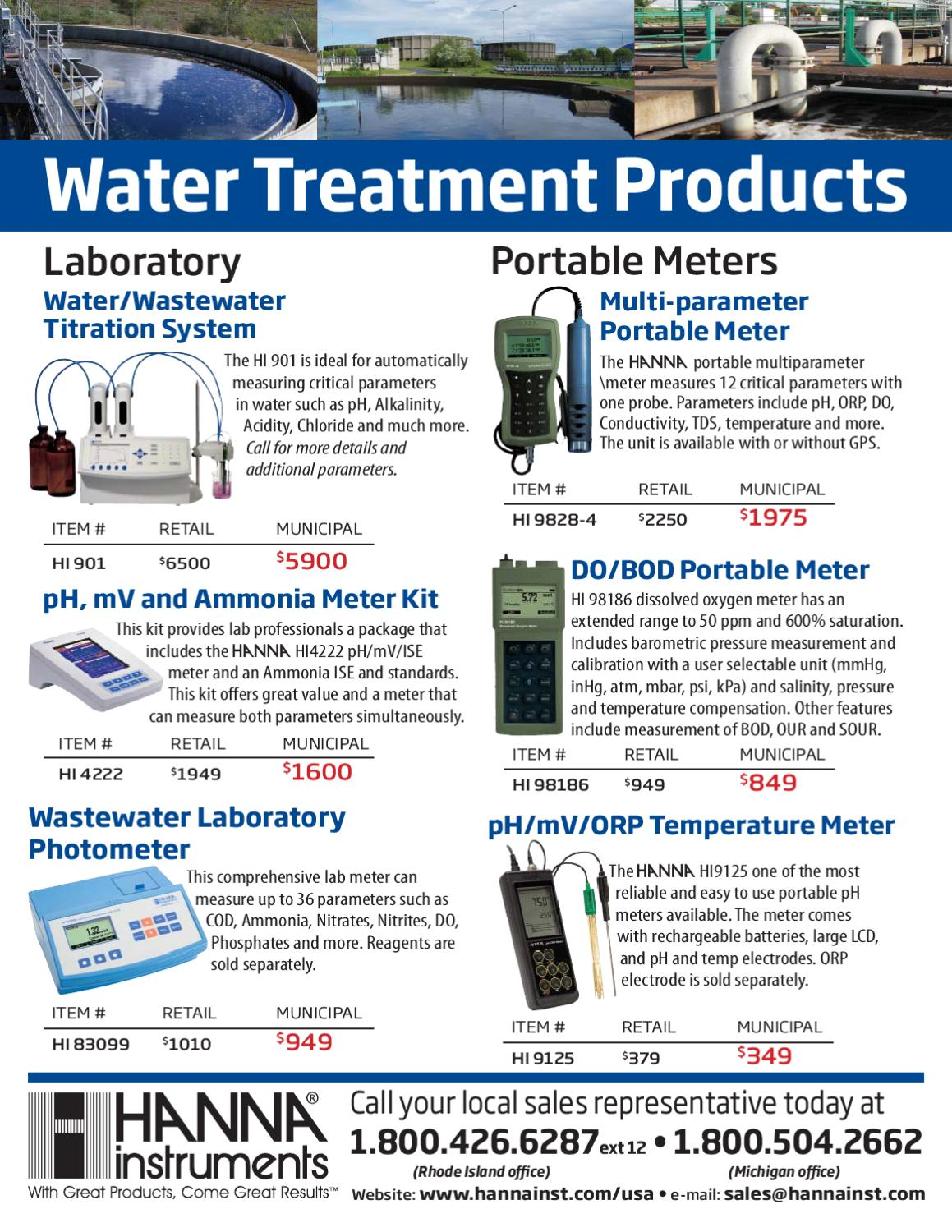 Hanna Waste Water Treatment Product Highlight by Aqua