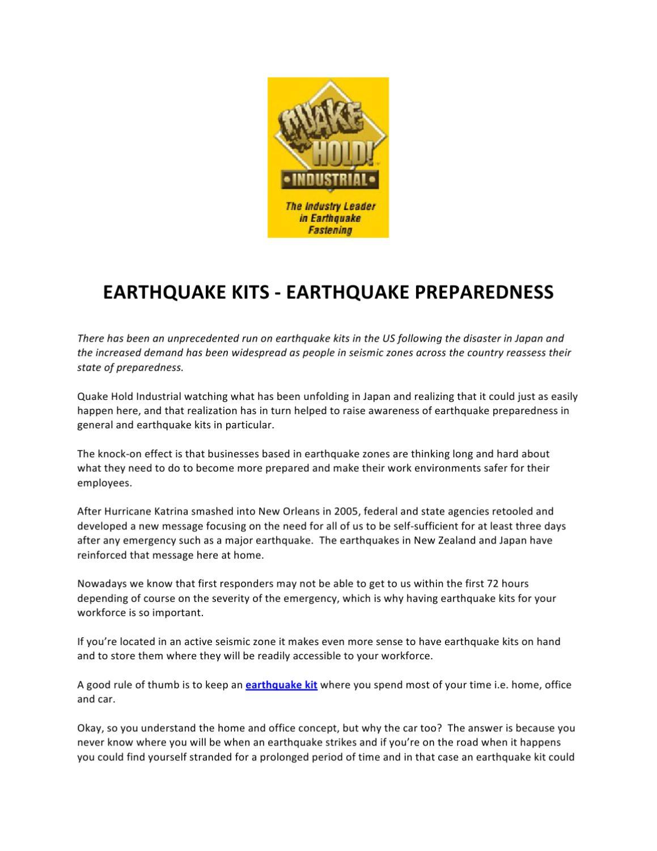 Earthquake kits earthquake preparedness by quakehold industrial earthquake kits earthquake preparedness by quakehold industrial issuu solutioingenieria Images