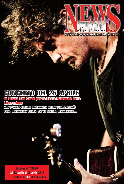 News Spettacolo Torino 830 Del 22 04 11 By Edizioni B L B Snc Issuu
