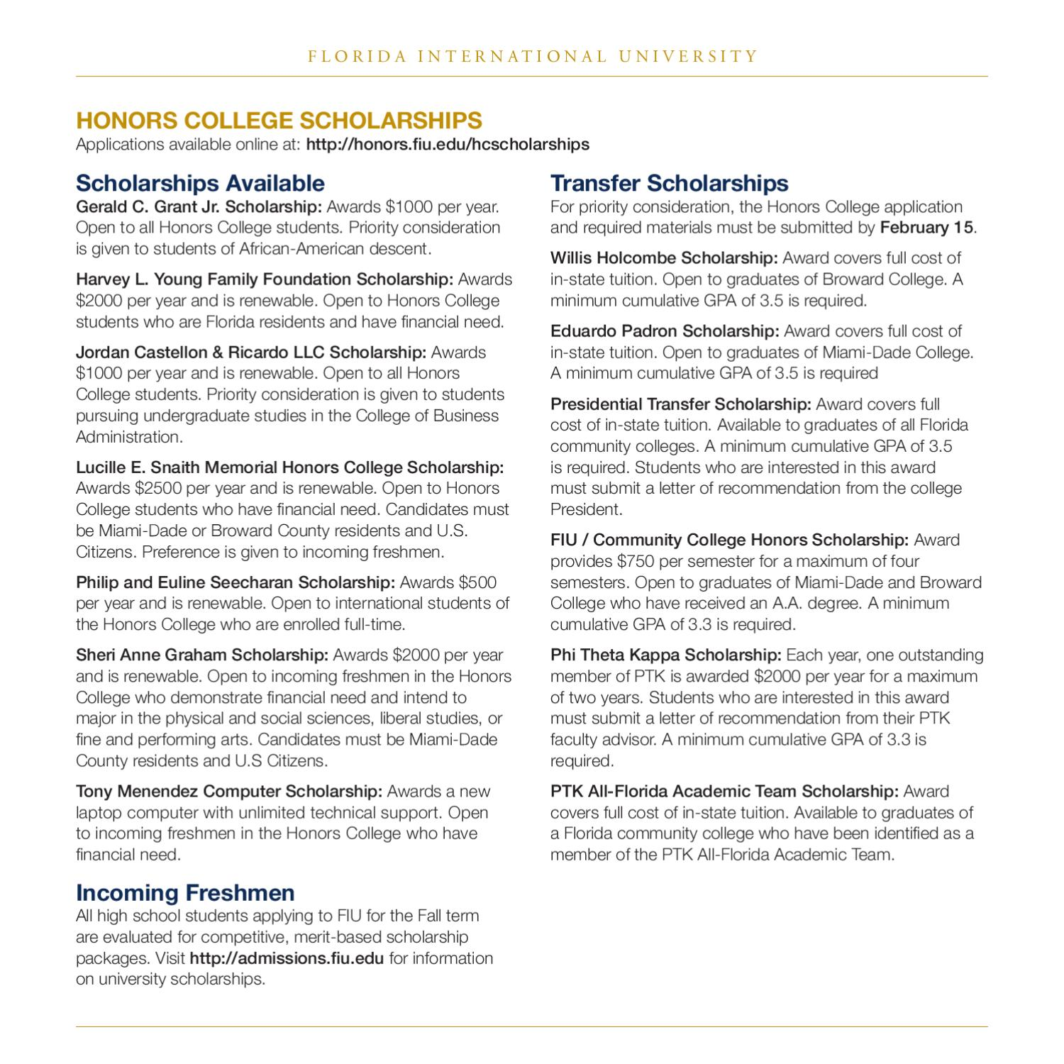 Honors College Brochure by Honors College - issuu