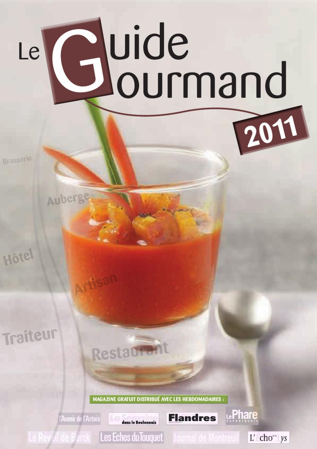 Guide Gourmand 2011 Du Nord Pas De Calais By Groupe Nord Littoral