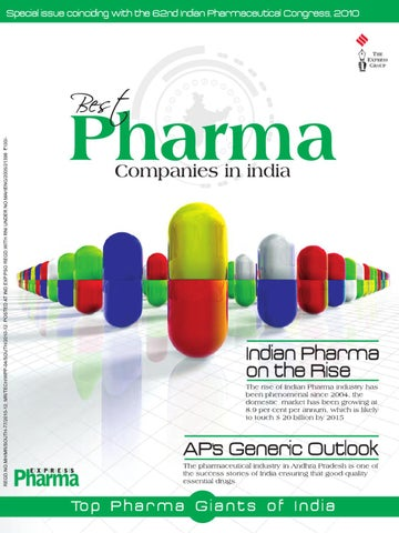 Best Pharma Companies in India by Nadimidoddi Prasad - issuu