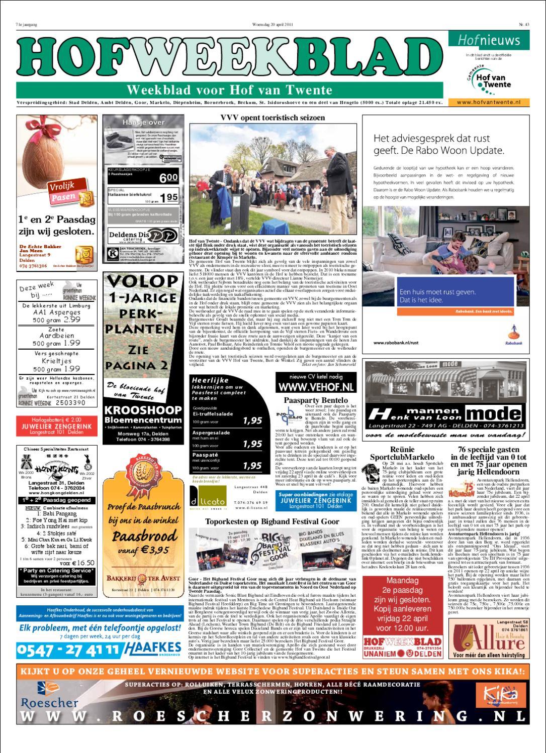 74e8b942e73500 Hofweekblad week 16 by Regionale Uitgeversgroep - issuu