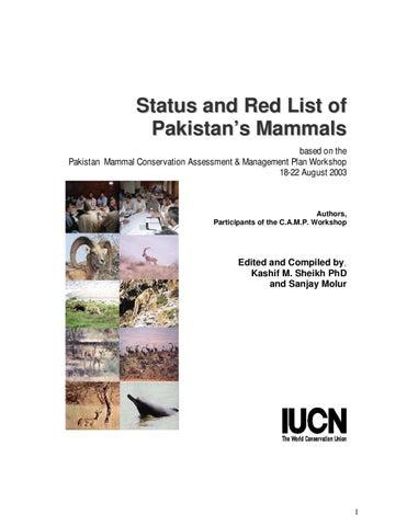 Status and Redlist of Pakistan Mammals by ZOO-WILD - issuu