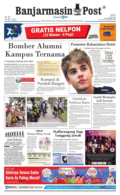 Banjarmasin Post Edisi Cetak Sabtu 23 April 2011 By Edie Pink Top Leux Studio Merah Muda M Issuu