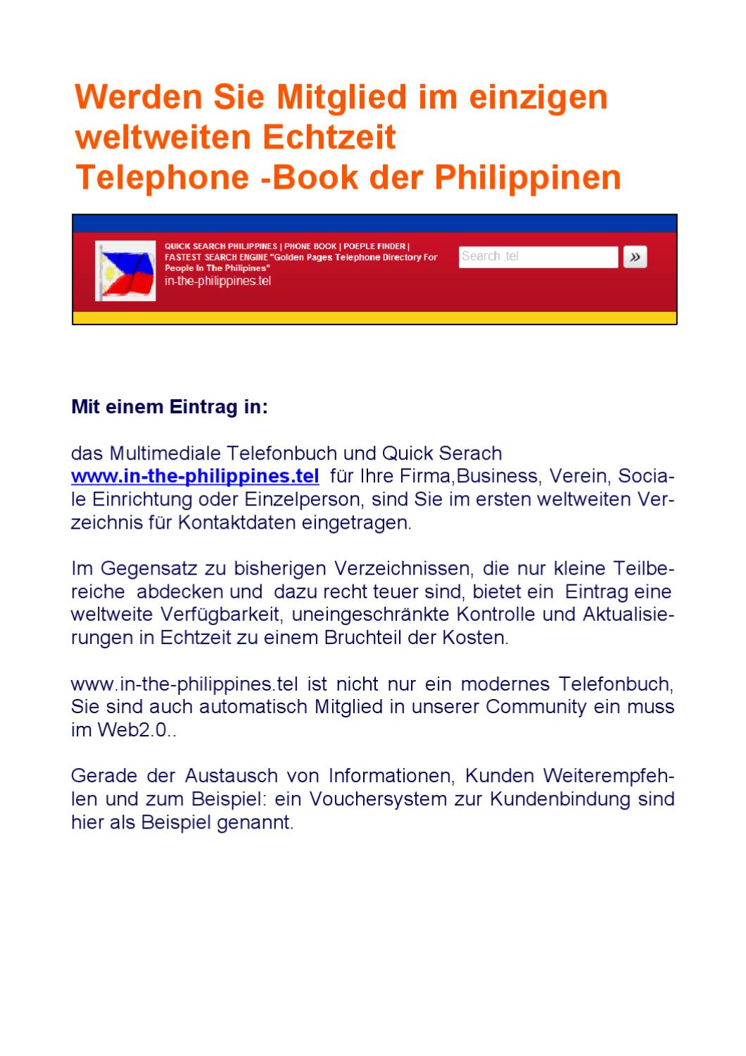 Philippines Phone Book by Falko labetzsch - issuu