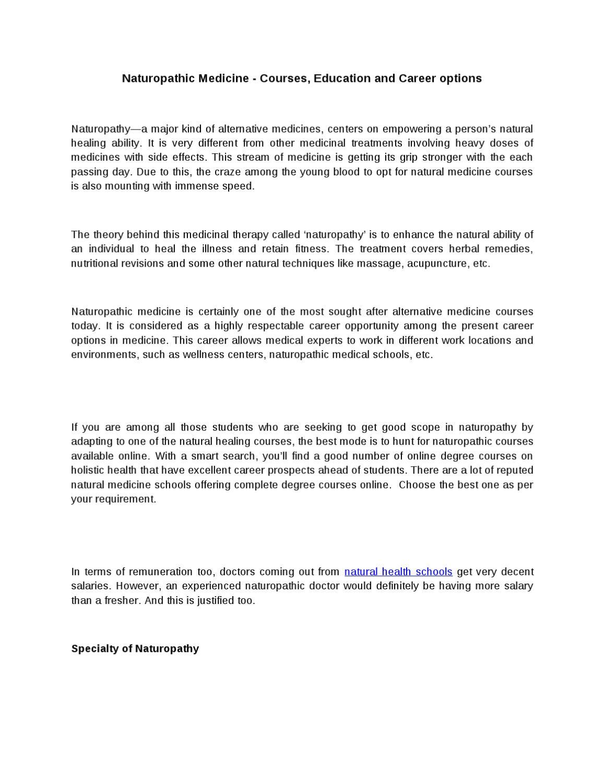 Naturopathy salary