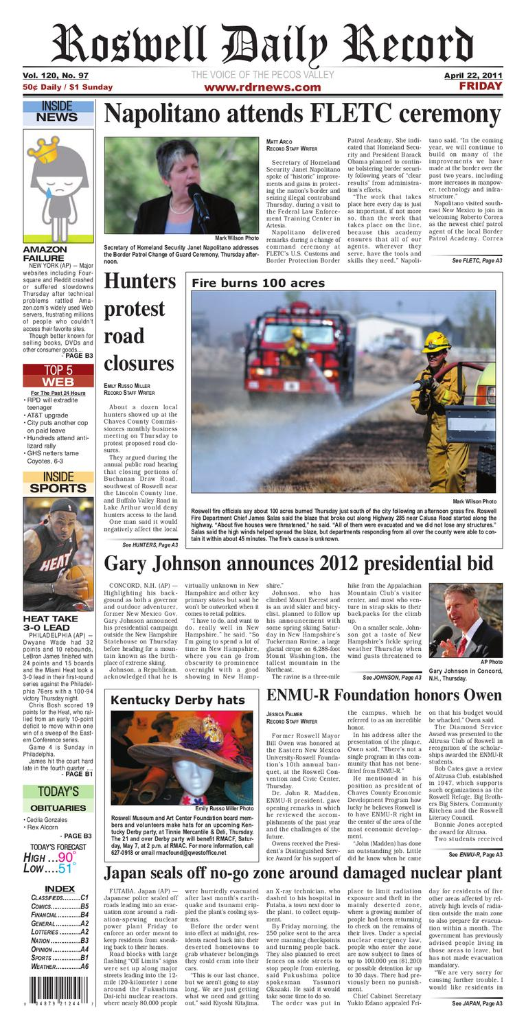 04-22-2011 by Roswell Daily Record - issuu