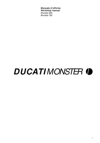 Ducati Monster 600 750 By Andrea Canu Issuu