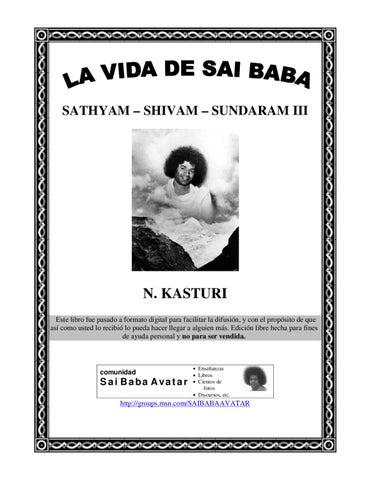 LA vida de Sai Baba Sathya Shivam Sundaram by marlyn morales - issuu