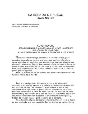 La Espada de Fuego by Bookmics - issuu