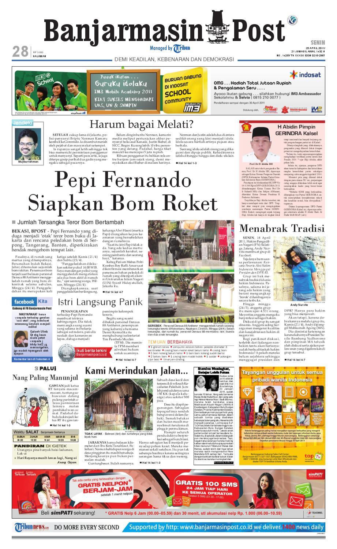 Banjarmasin Post Edisi Cetak Senin 25 April 2011 By Produk Ukm Bumn Madu Super Az Zikra Issuu