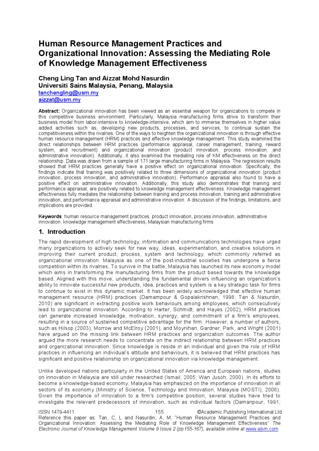 relationship between human resource management practices and organizational performance Cep discussion paper no 624 march 2004 do organizational climate a nd strategic orientation moderate the relationship between human resource management practices a nd.