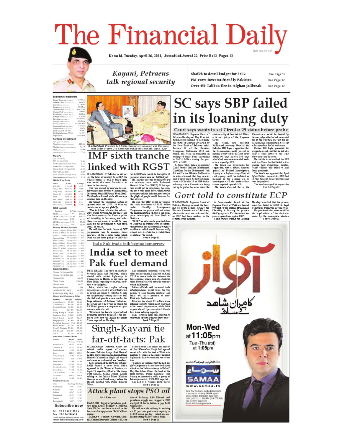 TheFinancialDaily-Epaper-26-04-2011 by The Financial Daily - issuu