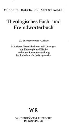 Woerterbuch Theologisches Fach- und Fremdwoerterbuch by audio brain ...
