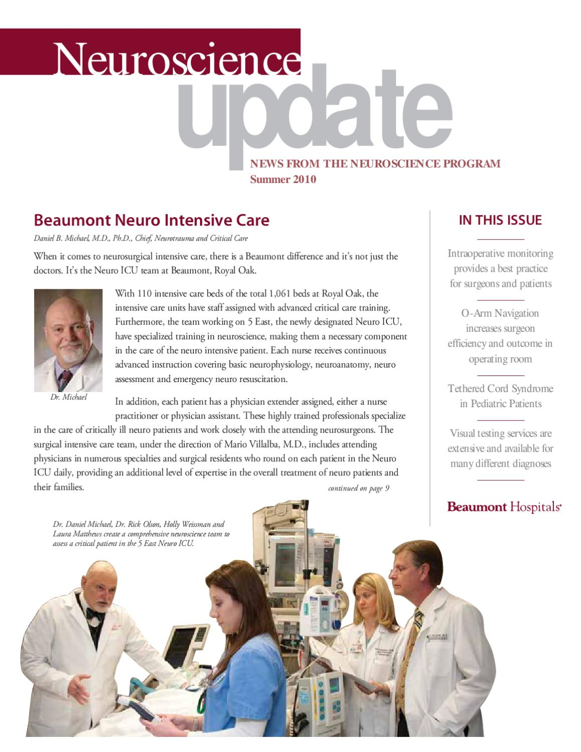 Neuroscience Update - Spring 2010 by Beaumont Health - issuu