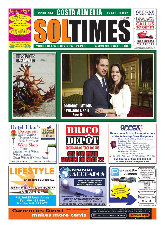 Europa leisure granada four seater patio set hayes garden world - Sol Times Newspaper Issue 284 Costa Almeria Edition By Nigel Judson Issuu
