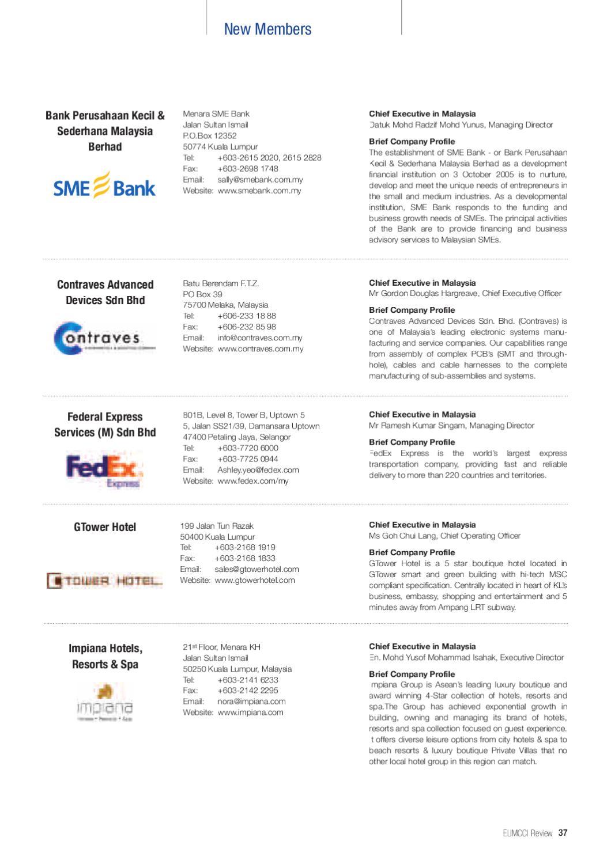 Eumcci Review January 2011 by EUMCCI - issuu