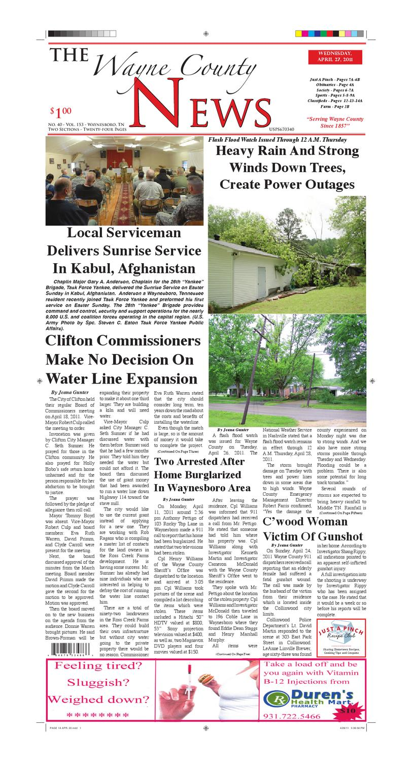 Wayne County News 04-27-11 by Chester County Independent - issuu