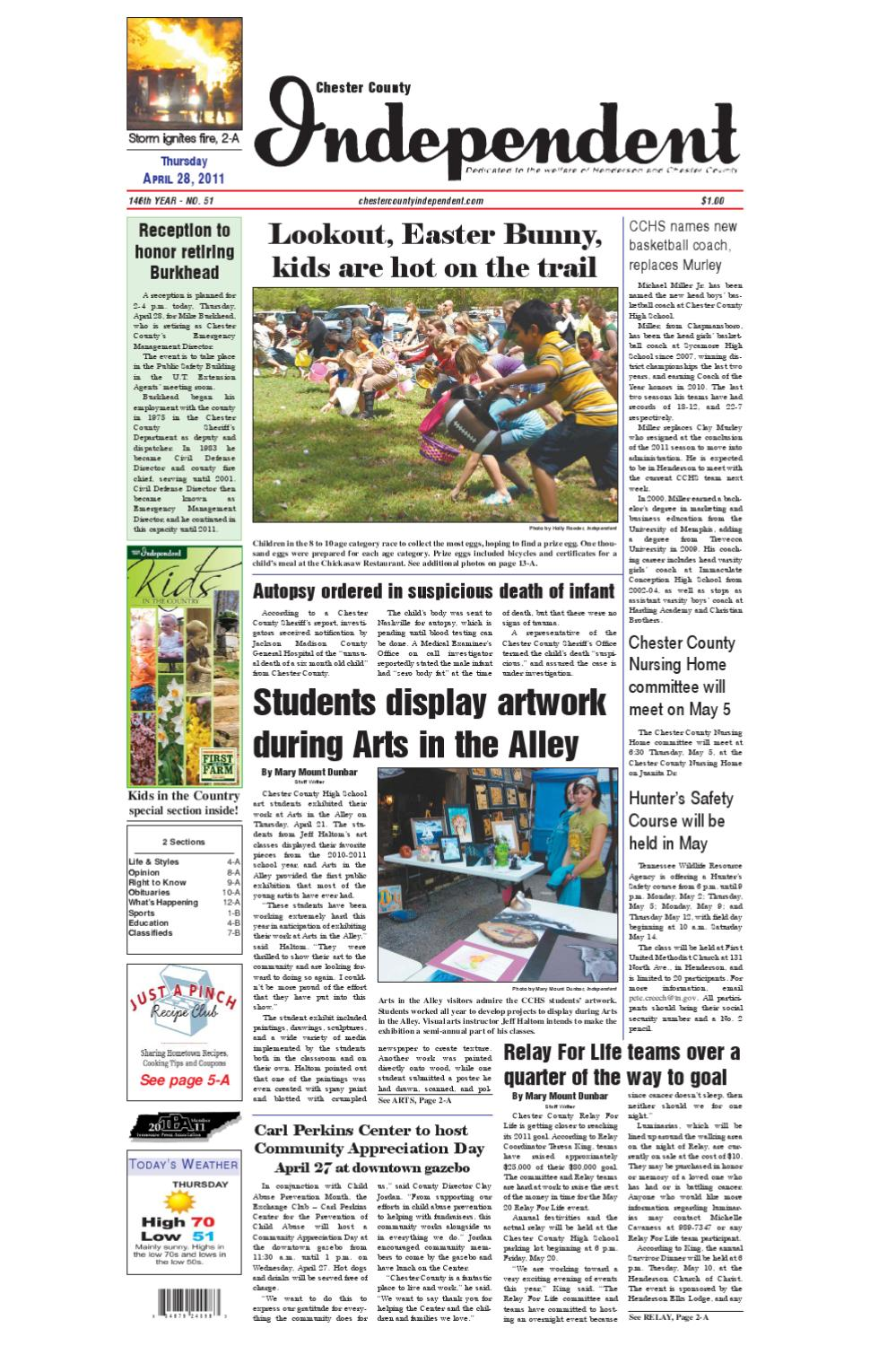 Tennessee chester county enville - Chester County Independent 04 28 11 By Chester County Independent Issuu