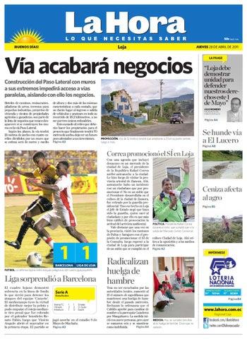 Diario La Hora Loja 28 de Abril 2011 by Diario La Hora Ecuador - issuu 74d76738965b4