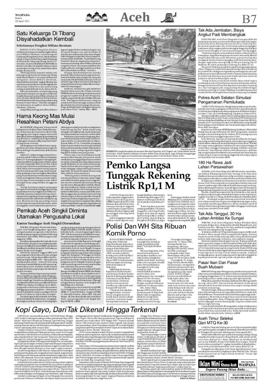 Waspada Kamis 28 April 2011 By Harian Issuu Kopi Keong Mas