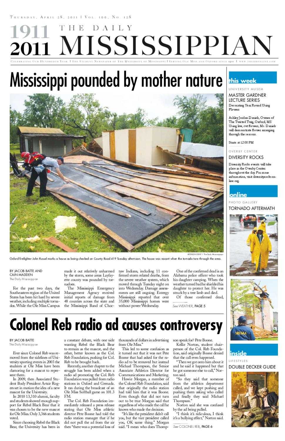 The Daily Mississippian - April 28, 2011 by The Daily