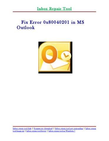 scanpst.exe not responding repair