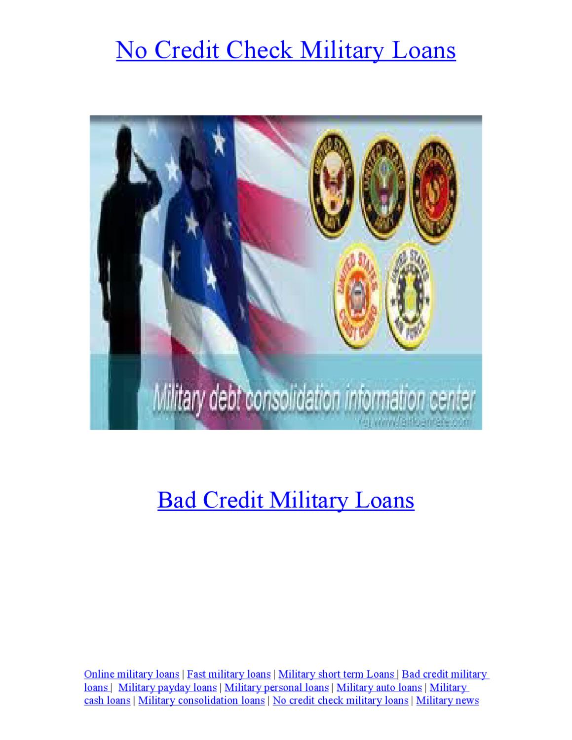 Bad Credit Military Loans >> No Credit Check Military Loans By Caroline Julliet Issuu