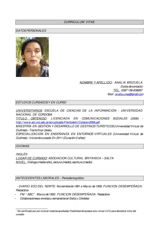 CURRICULUM VITAE_actualizado_2011 by ciu2011 unsa - issuu