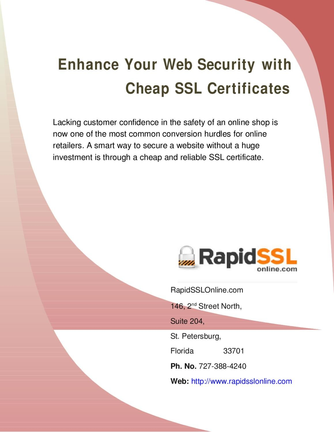 Enhance Your Website Security With Cheap Ssl Certificates By
