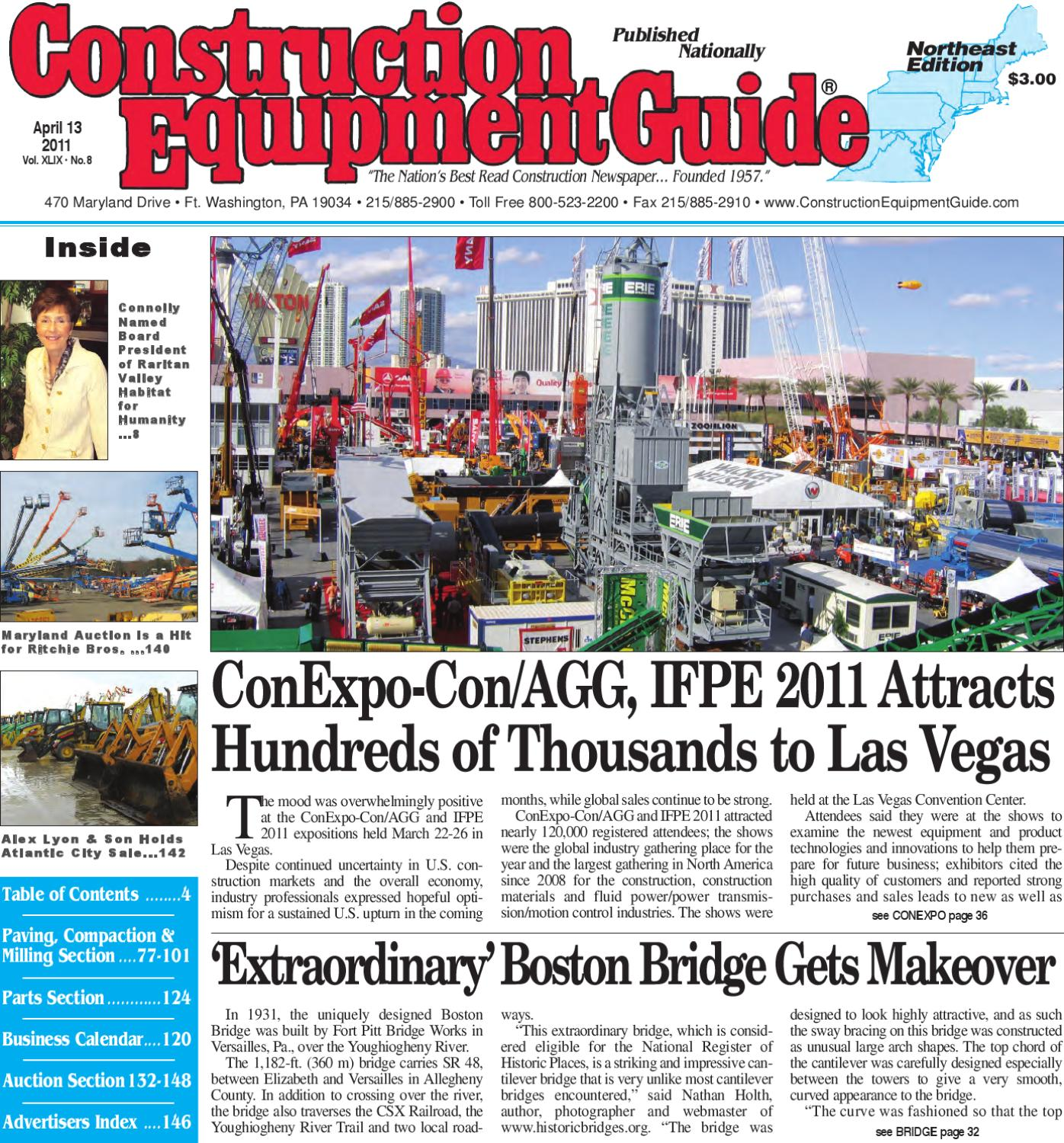 5a47ae2ba88 Northeast #8, 2011 by Construction Equipment Guide - issuu