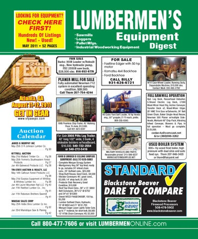LUMBERMEN'S Equipment Digest / May 2011 by LUMBERMEN'S