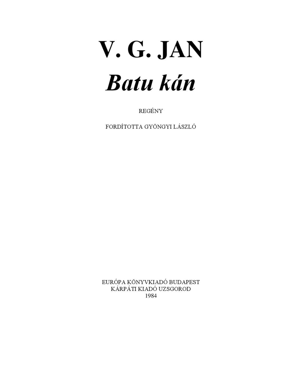 2312e84a25 V.G.Jan - Batu kán by Horváthné Krisztina - issuu