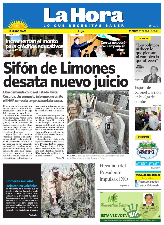 Diario La Hora Loja 10 de Abril 10 by LA HORA Ecuador   issuu