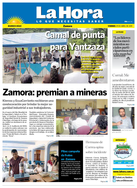 Diario La Hora Zamora 10 de Abril 10 by LA HORA Ecuador   issuu
