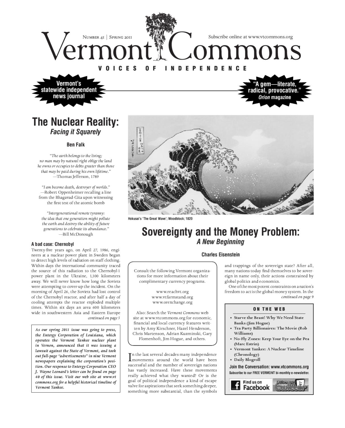 9184da6c Vermont Commons: Voices of Independence (#41) by Rob Williams - issuu