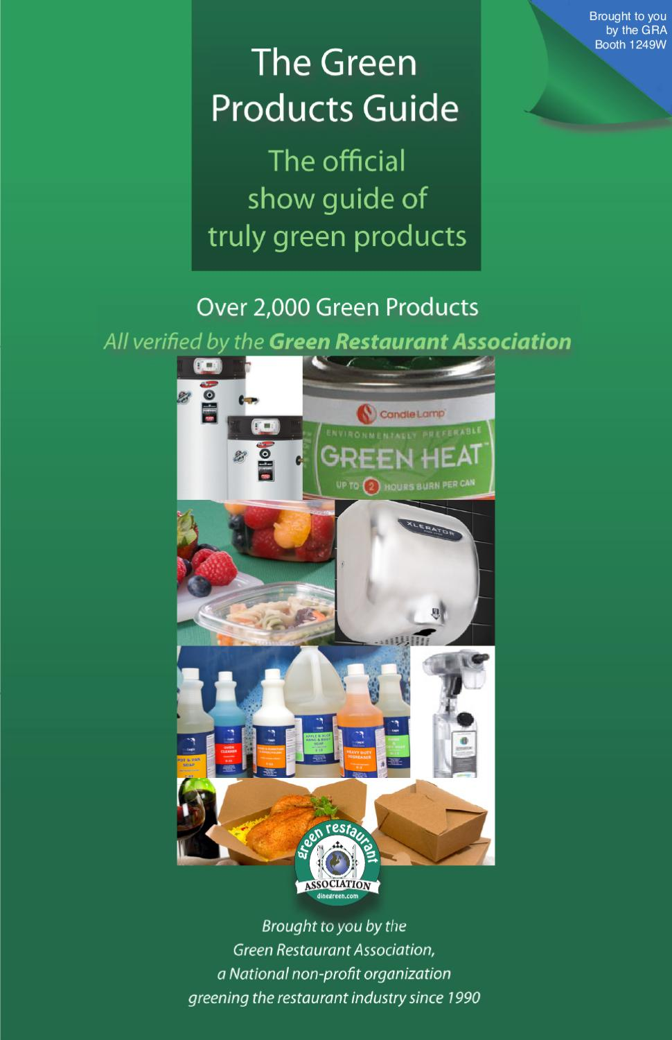 Green restaurant products guide by green restaurant for Cuisine on the green