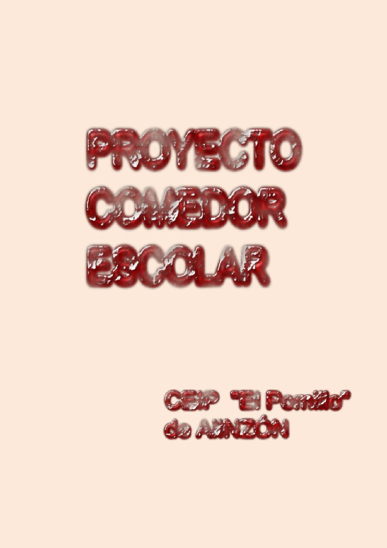 PROYECTO COMEDOR ESCOLAR DE \