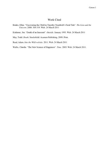 Work Cited By Catherine Caruso Issuu