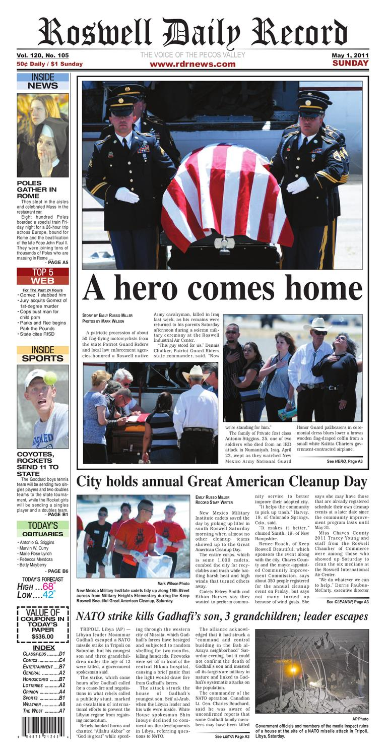05-01-2011 by Roswell Daily Record - issuu 68fc323ade