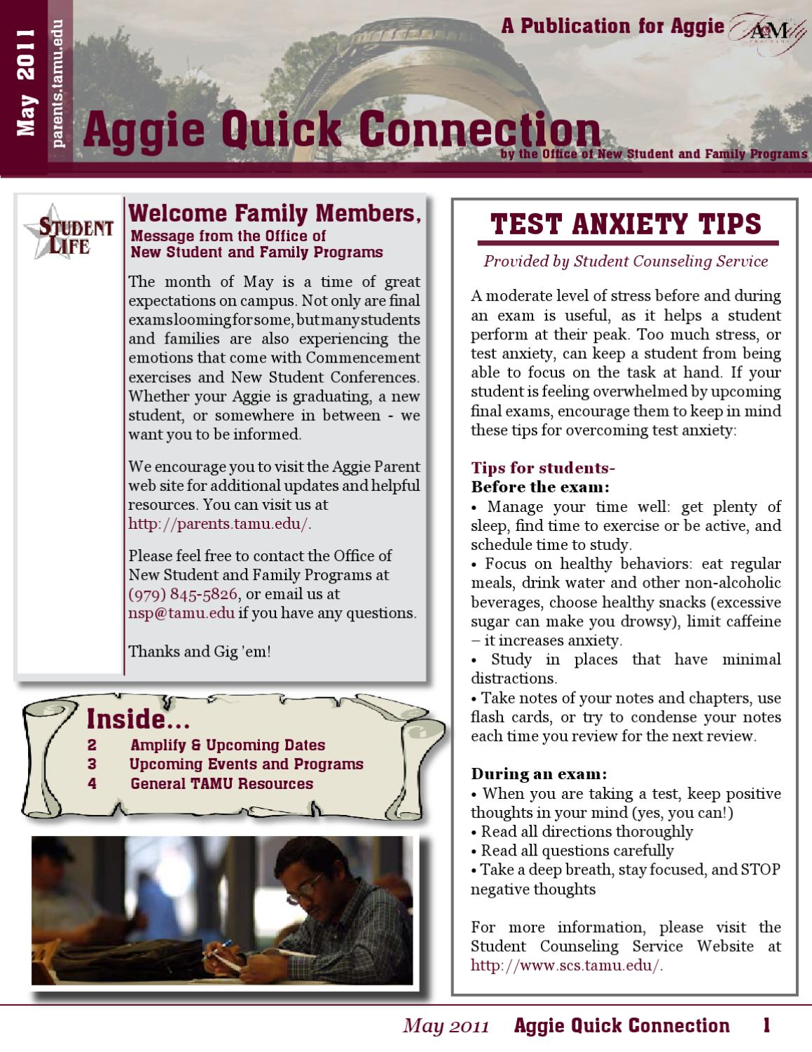 May 2011 Family Newsletter