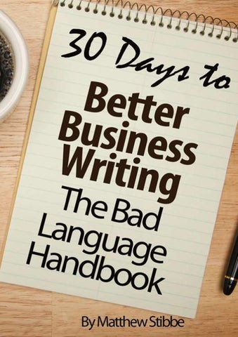 The Better Business Writing Blog