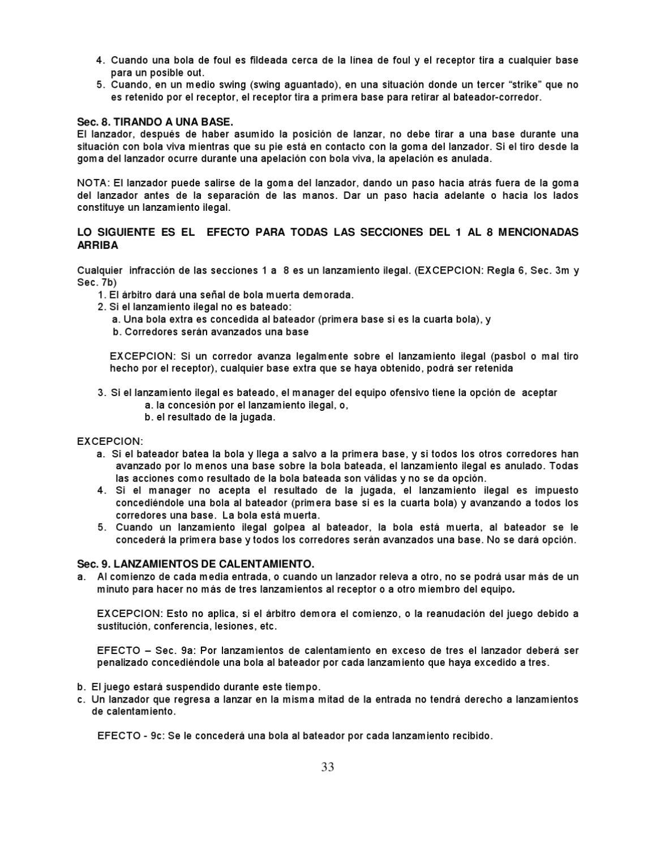Reglamento Oficial de Softbol by Pepe Huaman - issuu