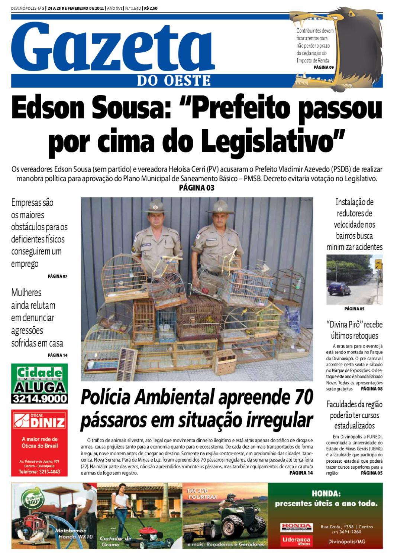 Gazeta do Oeste - Edição 1540 by Portal G37 - issuu 0d112f9a65