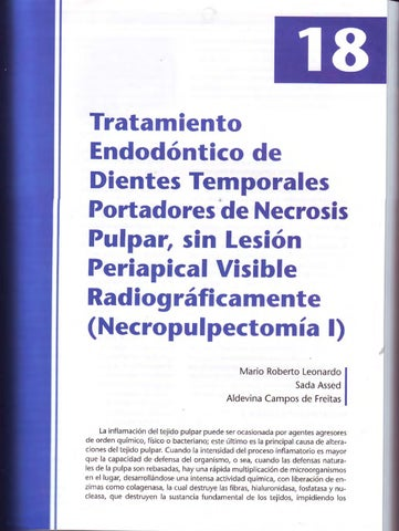 Necropulpectomía I by jesus calagua - issuu
