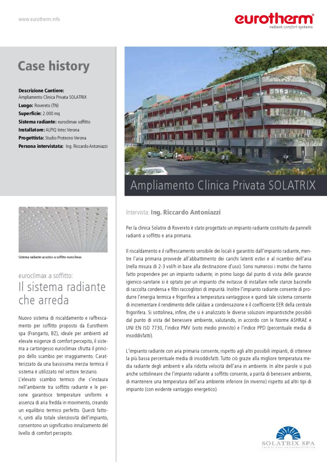 Case history by eurotherm s p a issuu for Affitti di cabina privata nel tennessee