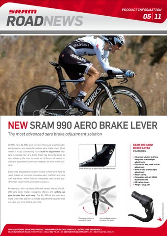 SRAM S-990 Aero Brake Lever Set With Cable Adjuster