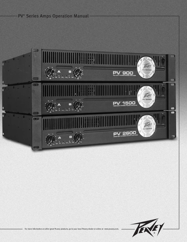 Amplificador PEAVEY PV 1500 - Manual Sonigate by sonigate - issuu