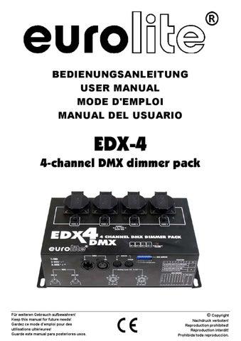 Dimmer EUROLITE EDX-4 DMX Dimmer Pack - Manual Sonigate by ...